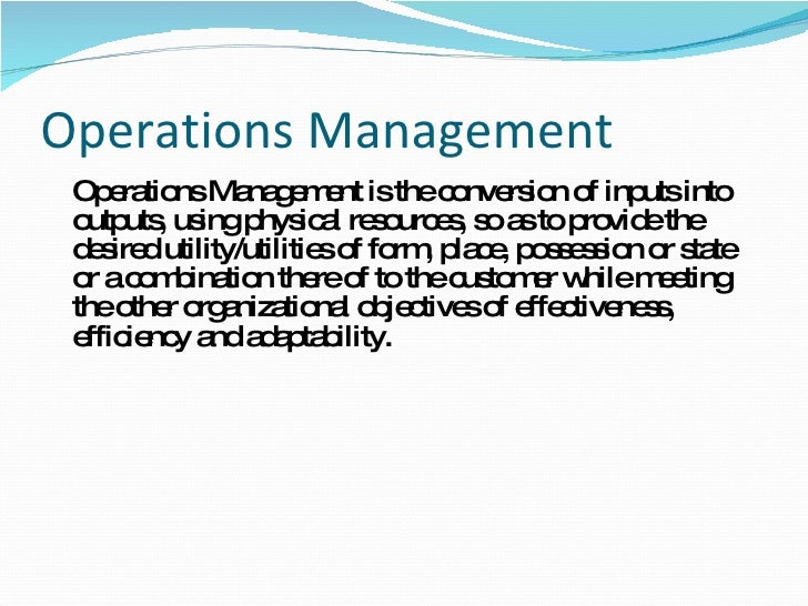 operations management and productivity essay Encyclopedia of business, 2nd ed operations management: ob-or.