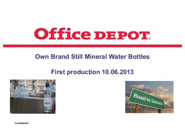 Production pictures Office Depot water