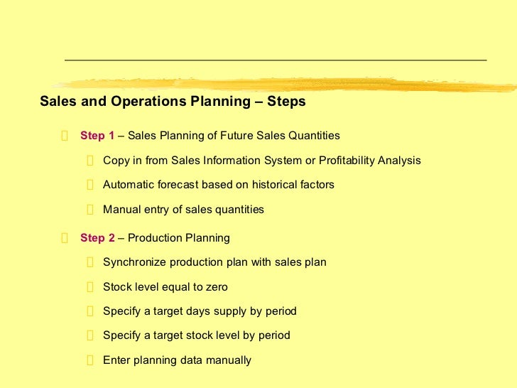 how to create a production plan in sap