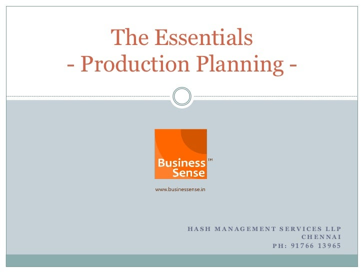 Production planning english