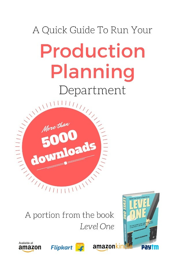 A Beginners Guide to Production Planning