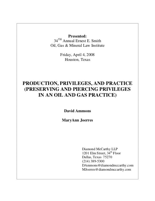 Production, Privileges, and Practice paper