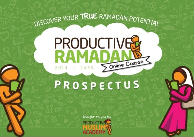 How it all started It's funny how we at Productive Muslim first started Productive Ramadan. To be honest, I didn't quite p...