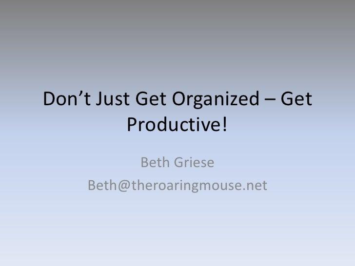 Productive Organization