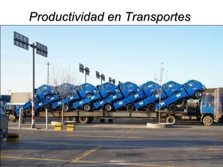 Productividad En Transportes