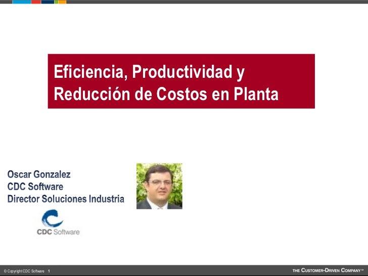 Productividad y eficiencia en la planta
