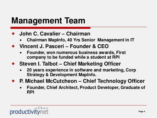 Business planning management