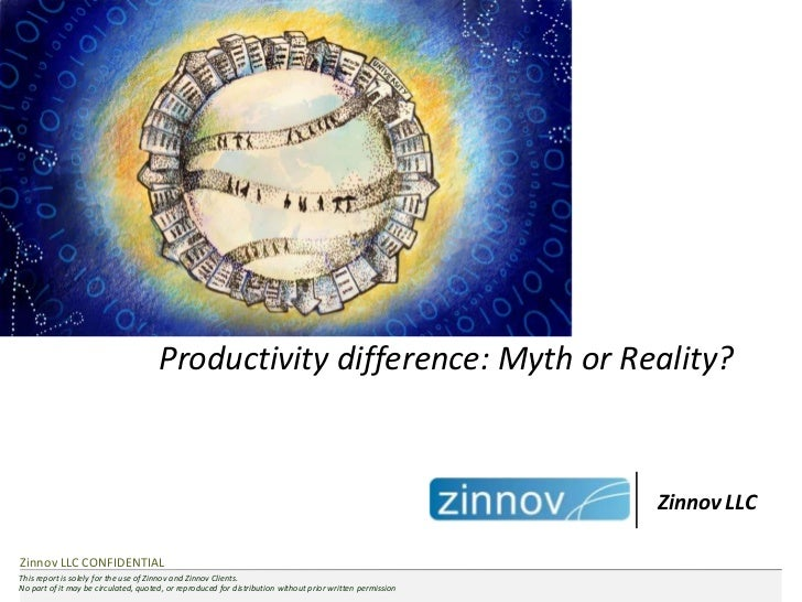 Productivity difference: Myth or Reality?