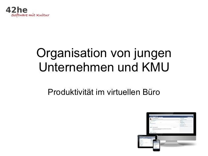 Organisation von jungenUnternehmen und KMU Produktivität im virtuellen Büro