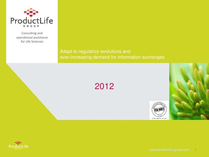 Consulting andoperational assistance  for Life Sciences                         Adapt to regulatory evolutions and        ...
