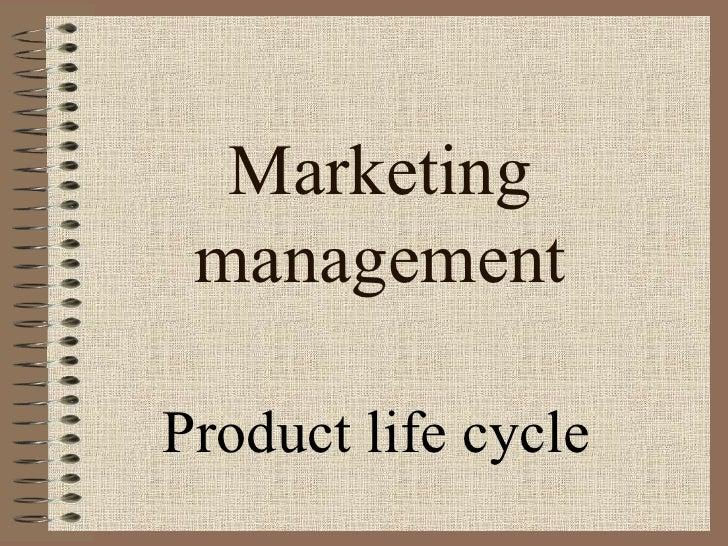 Marketing managementProduct life cycle