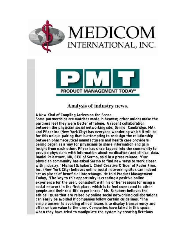 Analysis of the pharmaceutical industry / Product Management Today -Jan 2008