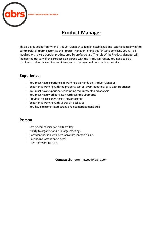 Product Manager This is a great opportunity for a Product Manager to join an established and leading company in the commer...