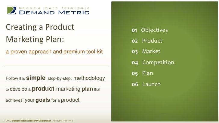 product marketing plan methodology tool kit. Black Bedroom Furniture Sets. Home Design Ideas