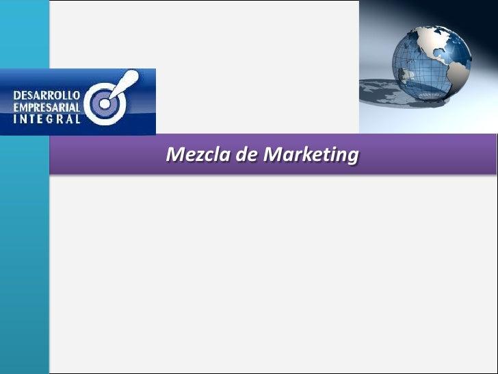 Mezcla de Marketing