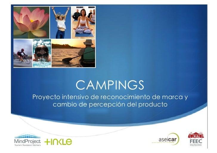 CAMPINGS  Proyecto intensivo de reconocimiento de marca y cambio de percepción del producto