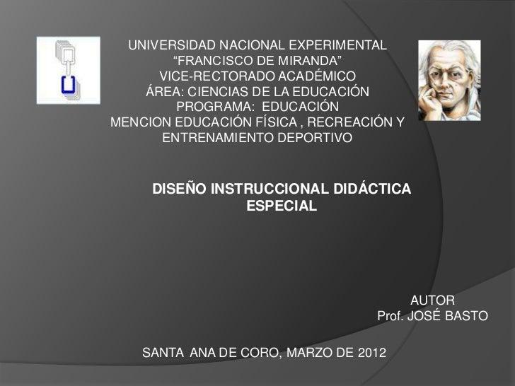 """UNIVERSIDAD NACIONAL EXPERIMENTAL        """"FRANCISCO DE MIRANDA""""      VICE-RECTORADO ACADÉMICO    ÁREA: CIENCIAS DE LA EDUC..."""
