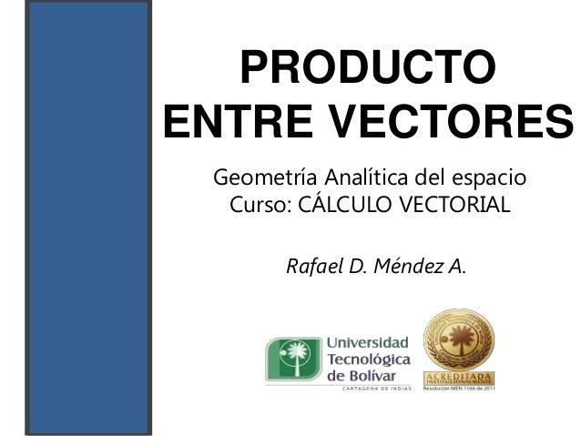 Producto entre vectores