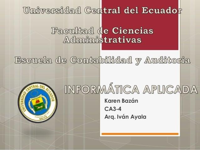 Karen Bazán CA3-4 Arq. Iván Ayala