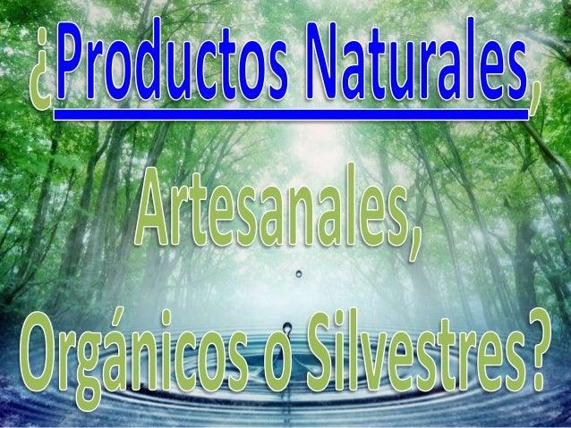 ¿Que Son los Productos Naturales, Orgánicos, Silvestres, y Artesanales en Santiago, Chile?