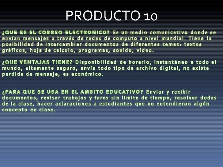 Productos 10 15
