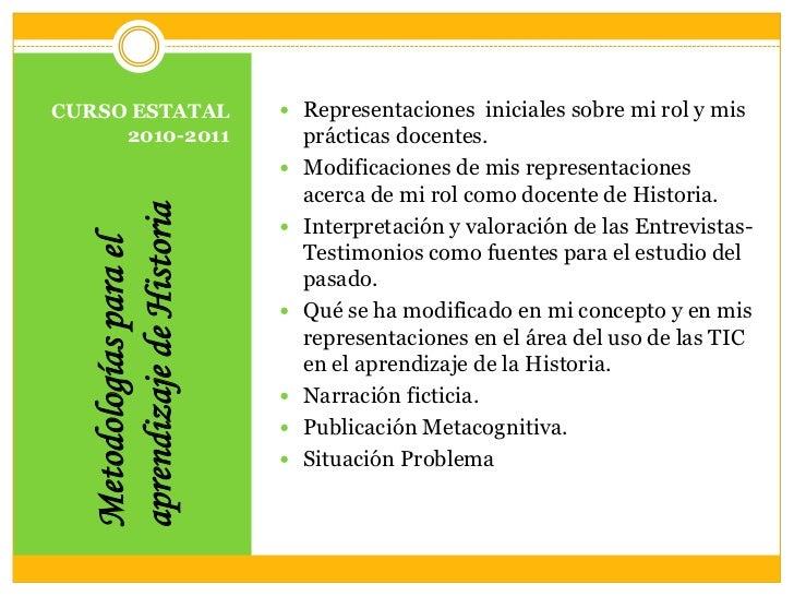 Metodologías para el aprendizaje de historia.