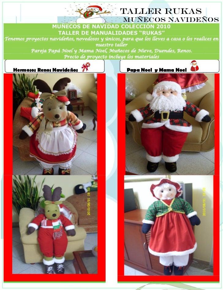 Taller Rukas Muecos Navideos De Navidad Col Pictures