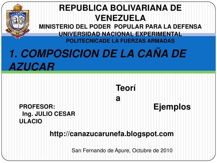 REPUBLICA BOLIVARIANA DE VENEZUELA<br />MINISTERIO DEL PODER  POPULAR PARA LA DEFENSA<br />UNIVERSIDAD NACIONAL EXPERIMENT...