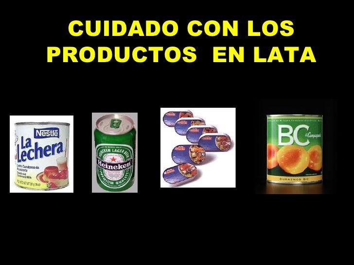 Productos En Lata