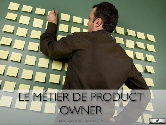 Formation au métier de Product owner
