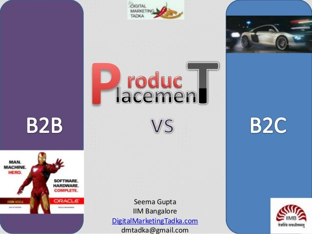 Product placement  B2B vs B2C