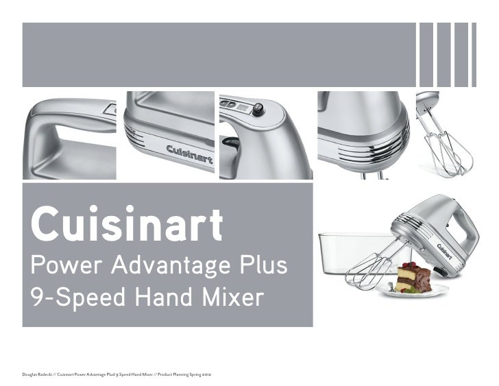 Product Planning Cuisinart Hand Mixer