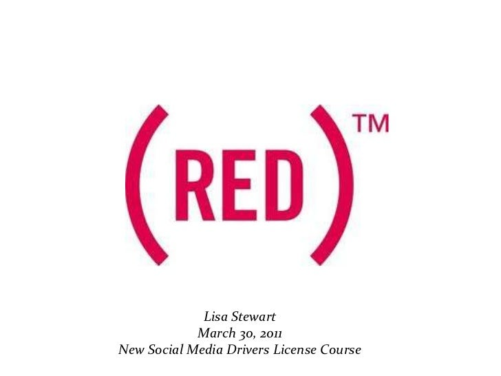 NMDL: Product red By: Lisa Stewart