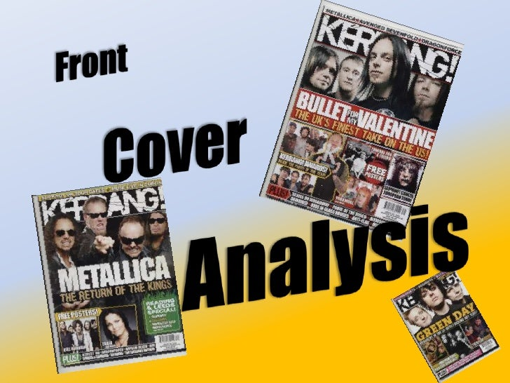 Front<br />Cover<br />Analysis<br />