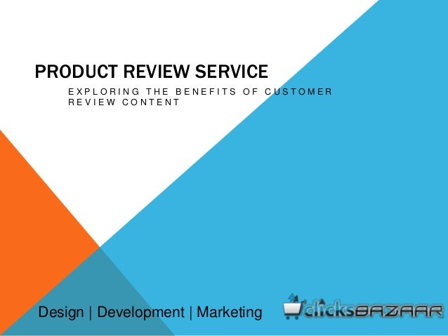 Product review service