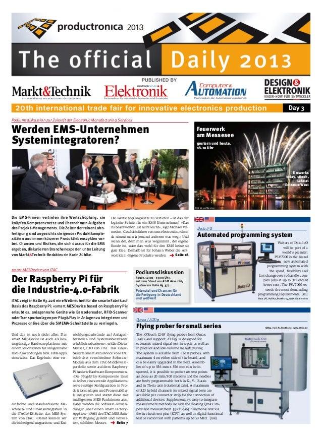 Day 3 Podiumsdiskussion zur Zukunft der Electronic Manufacturing Services  Werden EMS-Unternehmen Systemintegratoren?  Feu...