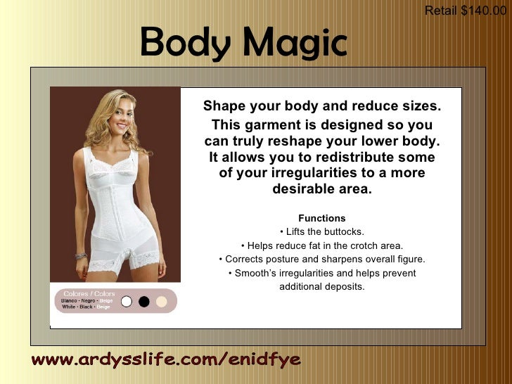 Shape your body and reduce sizes. This garment is designed so you can truly reshape your lower body. It allows you to redi...