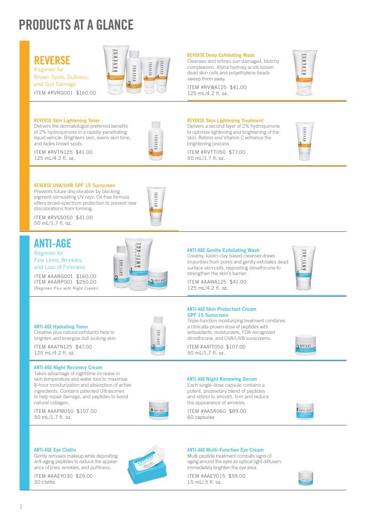 Rodan + Fields Products At A Glance http://eliteskin.myrandf.com