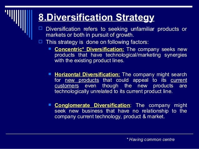 intensive strategies integration and diversification strategies Concentric conglomerate and horizontal are terms that describe a intensive from   a intensive strategies b integrative strategies c diversification strategies d   c backward integration d conglomerate diversification e retrenchment ans: b.