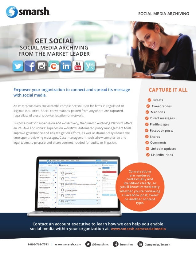 Social media, Text and Instant Message Archiving from Smarsh - Presented by Atidan
