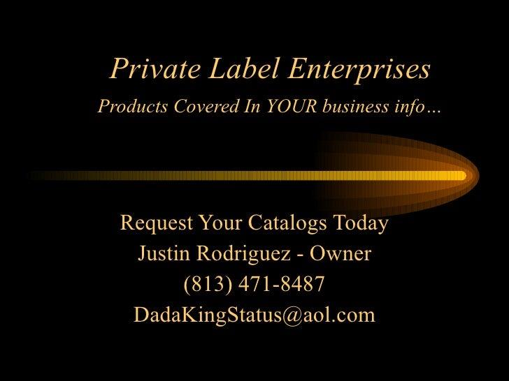 Private Label Slide Show