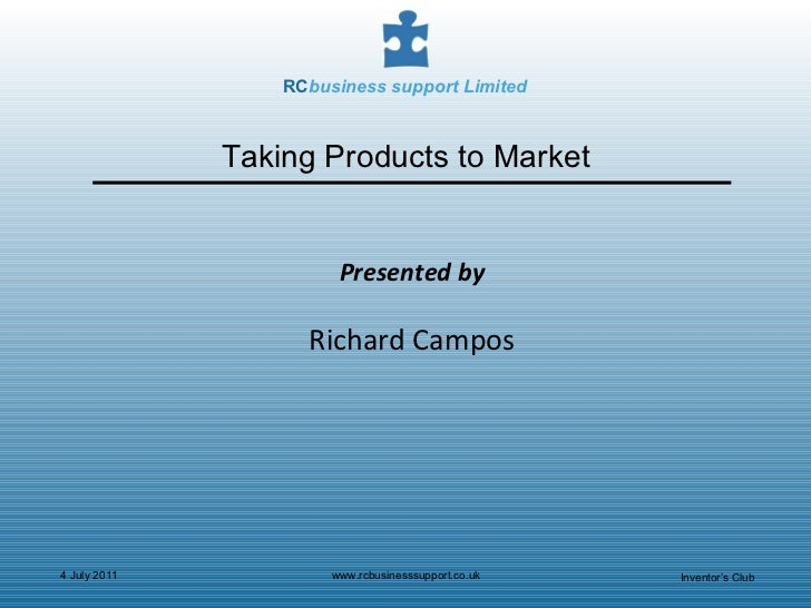 Taking Products to Market