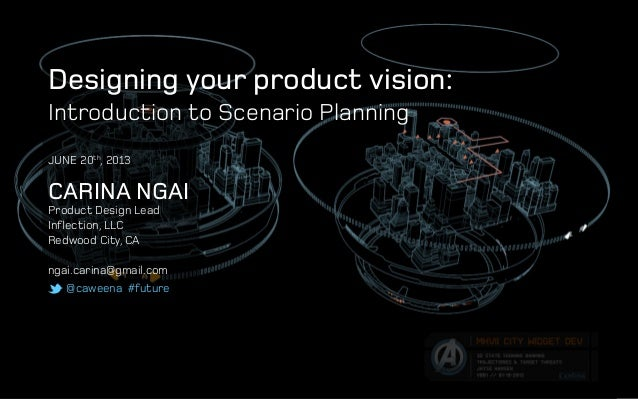 @caweena #future Designing your product vision: Introduction to Scenario Planning Carina Ngai Product Design Lead Inflecti...