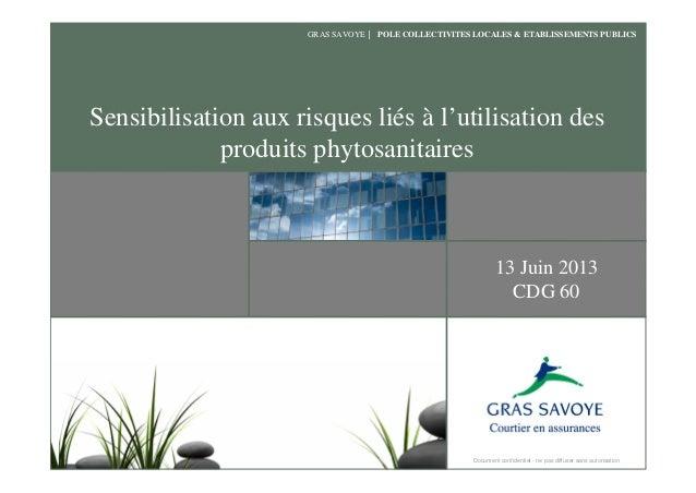 Gras-Savoye - Sensibilisation aux risques liés à l'utilisation des produits phytosanitaires