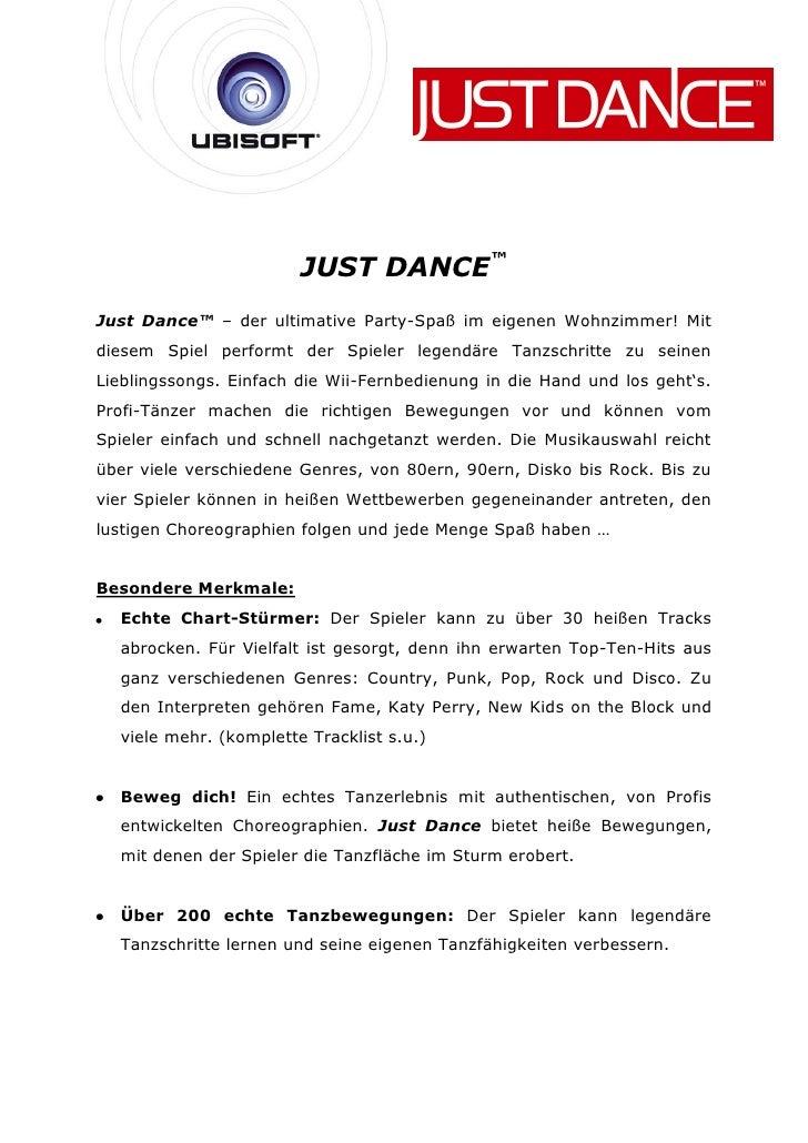 JUST DANCE™Just Dance™ – der ultimative Party-Spaß im eigenen Wohnzimmer! Mitdiesem Spiel performt der Spieler legendäre T...