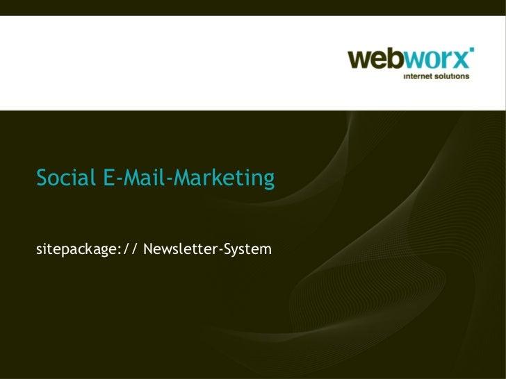 Social E-Mail-Marketingsitepackage:// Newsletter-System