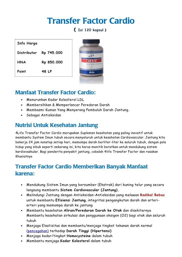 Transfer Factor Cardio                                    (   Isi 120 kapsul ) Info Harga Distributor     Rp 745.000 HNA  ...