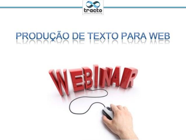 Produção de texto para web