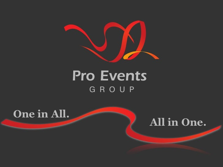Pro Events Group corporate presentation in English