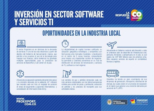 Inversión en el Sector Software y Servicios TI en Colombia